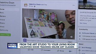 From the art studio to your living room: Valentino Dixon teaching online art classes