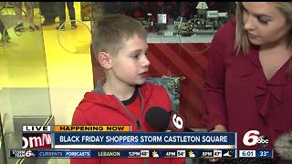 Kids get ready for Legos on Black Friday - Video