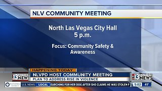 Community meeting in North Las Vegas