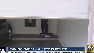 Leave your garage door open in Chandler, you'll get a visit from police - Video