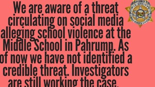 Nye County Sheriff's Department investigating school threat - Video