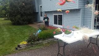 Watermelon Rubber Band Rocket - Video