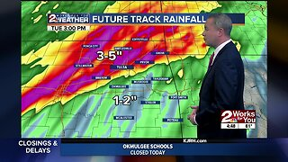 Severe weather projected in Green Country