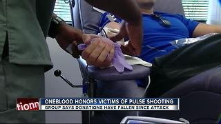 Blood drives hosted by OneBlood to honor victims of Pulse shooting - Video