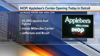 World's first IHOP, Applebee's hybrid to open in downtown Detroit - Video