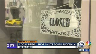 Brida shop appears to suddenly close doors - Video