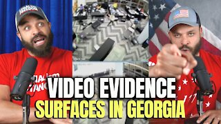 Video Evidence Shows Georgia Poll Workers Pulling Out Suitcases of Ballots
