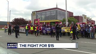 Detroit McDonald's workers striking for right to form union