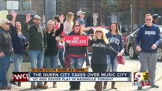 Cincinnati, Xavier fans take over Nashville for NCAA Tournament - Video