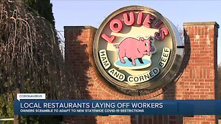 Local restaurants laying off workers as new restrictions begin