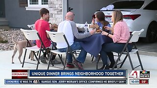 Lee's Summit neighborhood dines 'together' amid social distancing