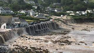 Floodwaters Rush Downhill As Flash Floods Hit Coverack - Video