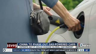China to phase out gas-powered cars - Video