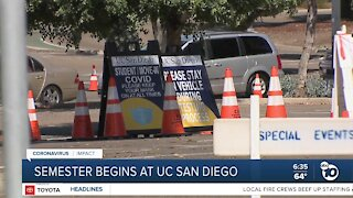 New quarter begins at UC San Diego with extra precautions