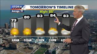 Sunny and humid Saturday in store
