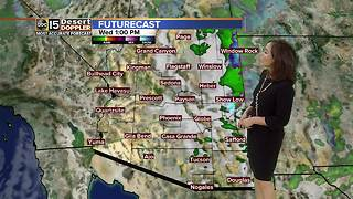 Storm clears out today, but chances for moisture linger - Video