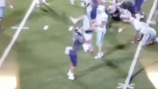 High School Football Player Ejected for POWERBOMBING Opponent - Video