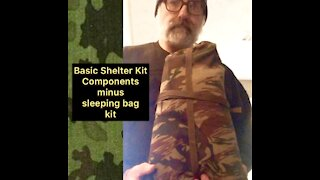 Survival / Camping Basic Tarp Shelter Kit Example