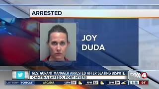 Restaurant manager arrested over seating dispute - Video