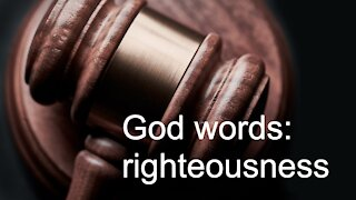 God words: righteousness