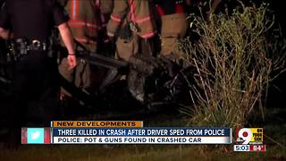 PD: Multiple handguns, pot found in car that crashed into parked SUV in Carthage - Video