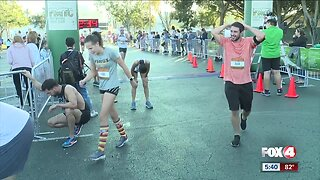 Thousands participated in the 40th annual Turkey Trot Thanksgiving morning.