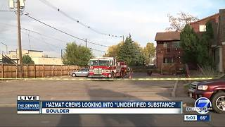 Hazmat crews looking into unidentified substance - Video