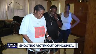 Woman shot at Detroit fireworks out of the hospital and speaking out - Video