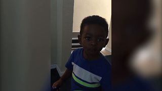 Kid Denies Dad Without Saying A Word - Video