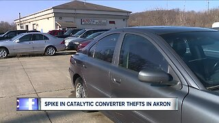 Police investigating string of catalytic converter thefts in Akron