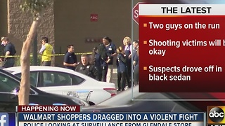 Walmart shoppers dragged into violent fight in Glendale - Video