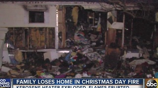 Harford County family loses home in Christmas Day fire - Video
