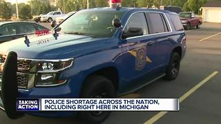Police officer shortage affecting Michigan - Video