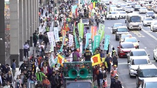 Anti-Nuclear Protestors March in Taipei on the 7th Anniversary of the Fukushima Disaster - Video