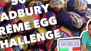Extreme Eater Consumes 38 Cadbury Creme Eggs - Video
