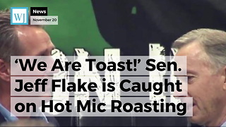 'We Are Toast!' Sen. Jeff Flake is Caught on Hot Mic Roasting Trump and Roy Moore - Video