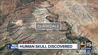 Human skull discovered at Verde River - Video