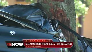 Lakewood High School student dead, 2 students injured after accident in St. Pete - Video
