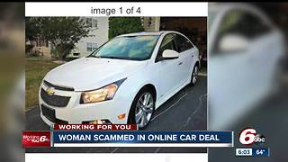 Woman scammed in online car deal - Video