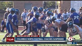 Columbus North football coaches suspended for verbal, physical altercation during game - Video