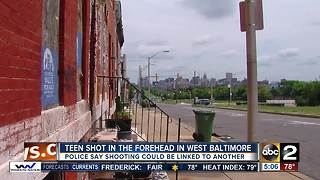 15-year-old shot in head after robbery in west Baltimore - Video