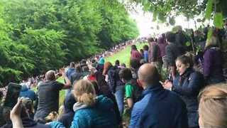 Hundreds Watch as Cheese-Rolling Runners Hurl Themselves Down Hill - Video