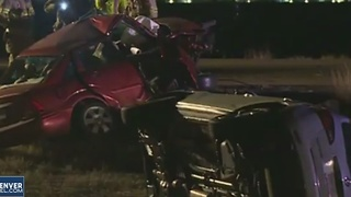 6 injured in crash with wrong-way driver - Video
