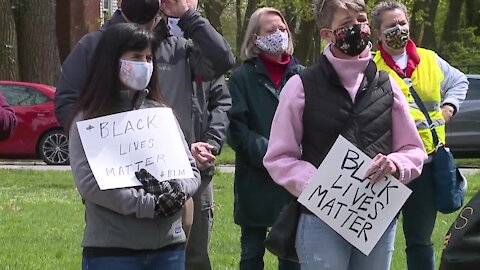 Protesters march in Shaker Heights for Black lives