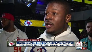 Chiefs player reflects on playing in hometown