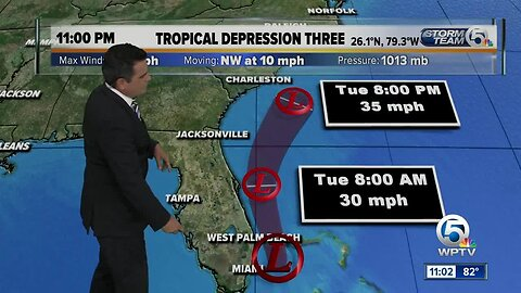 Tropical Depression Three forms in Bahamas, expected to bring heavy rain to South Florida