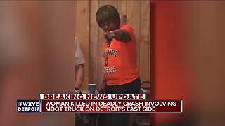 Woman killed after crashing into MDOT truck on I-94 in Detroit - Video