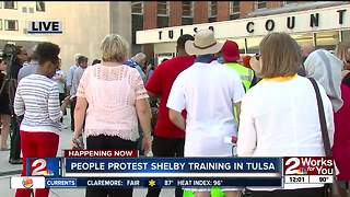 People protest Betty Shelby training in Tulsa