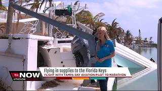 Flying in supplies to the Florida Keys - Video