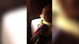 Toddler Finds Mom's Special Present